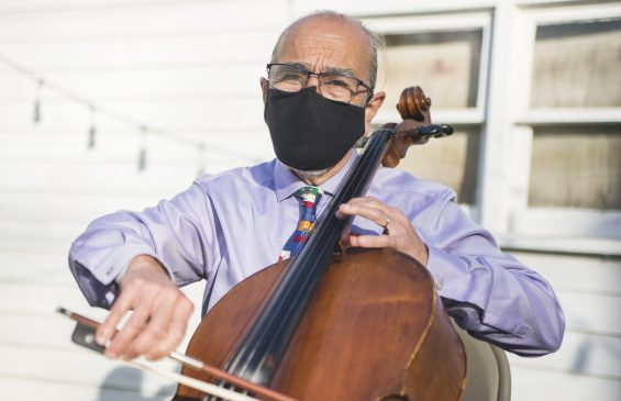 Daniel Gasse, of the Gasse School of Music, has worked hard to figure out how to teach music during a pandemic. | Alex Rogals, Staff Photographer