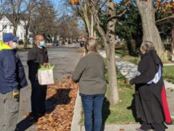 Forest Park resident May Bill turned 100 years old on Nov 28. The community helped celebrate with a birthday parade past her home on the 600 block of Beloit. | Maria Maxham/Editor