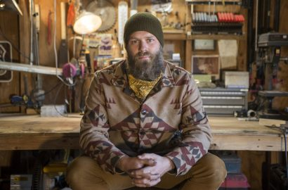 Joshua Longbrake makes wood furniture from his garage in Forest Park. | Alex Rogals, Staff Photographer