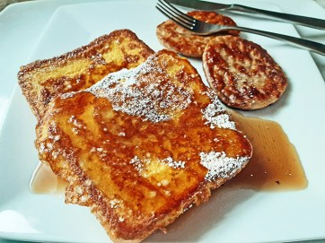 Feel like a kid again with French toast from Louie's Grill. Melissa Elsmo.