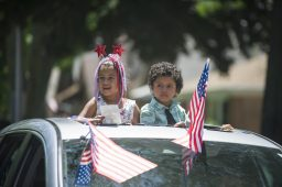 Rosabella and Jeremiah Manzaneres participated in the drive-by farewell parade for Bill Milnamow. | File photo