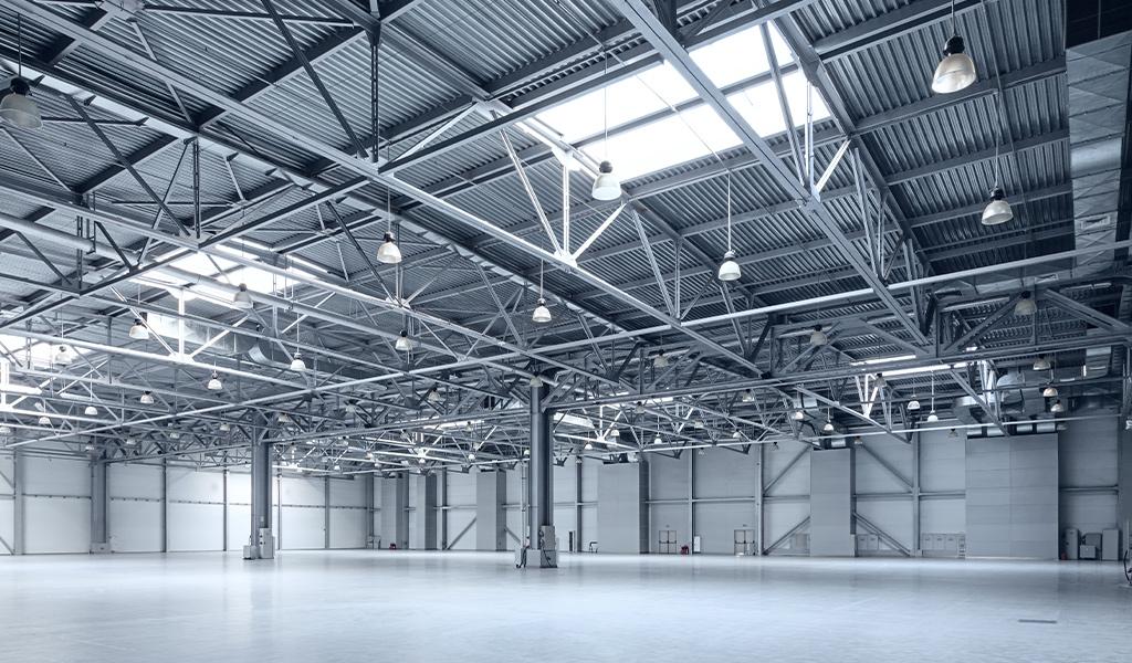 Interior of empty industrial property