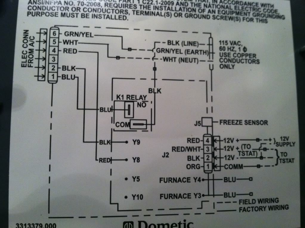 Dometic Thermostat Wiring Diagram & Dometic RV Thermostat