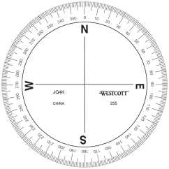 360 Degree Circle Diagram Of Comedone Azimuth Compass Protractor Forestry Suppliers Inc