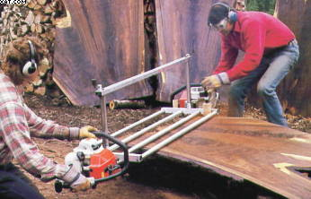 Chainsaw Jig For Cutting Slabs