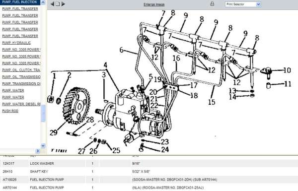 john deere fuel injection pump parts in Forestry and Logging
