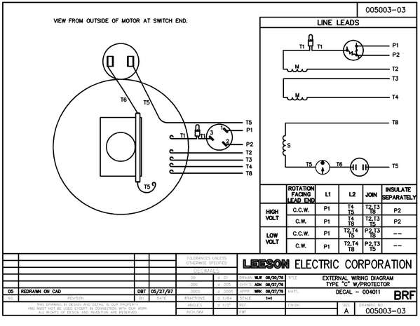 Leeson Electric Motor Wiring Diagram & Baldor 7 5 Hp Electric