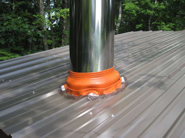 Stove Pipe: Stove Pipe Boot For Metal Roof