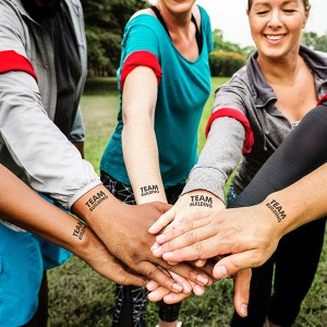 Laser Tattoo Paper is the perfect product to use in team building exercises and team exents