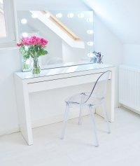 Makeup Storage Ideas | Ikea Malm makeup vanity with mirror