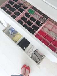 Drawer organizers and storage solutions for IKEA Malm dresser