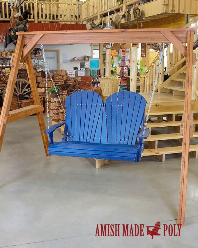 Amish Made Poly 4' Swing Patriot Blue