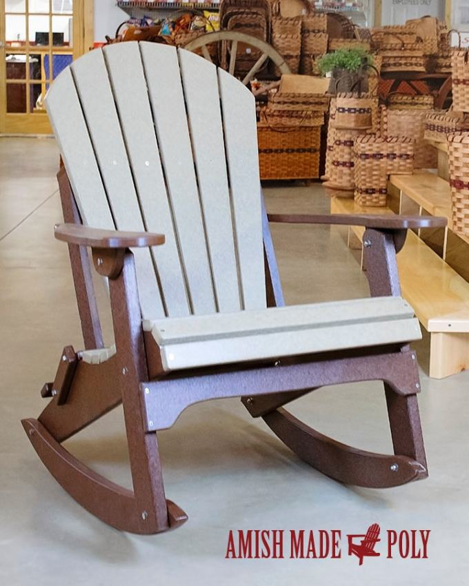 Amish Made Poly Adirondack Rocking Chair