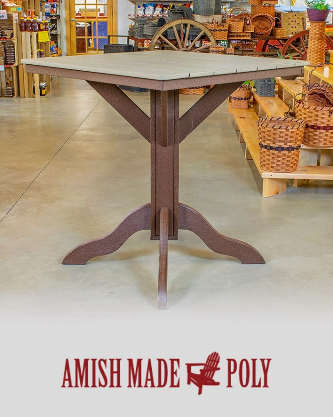 Amish Made Poly Bar Height Table