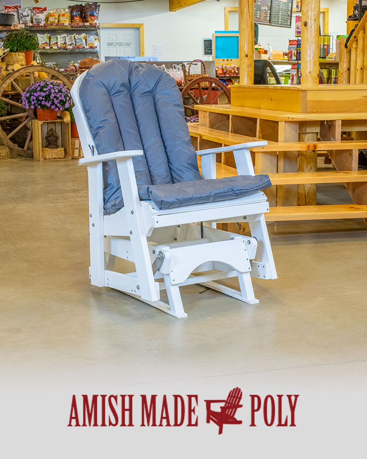 amish made rocking chair cushions coca cola chairs and tables products archive poly cushion
