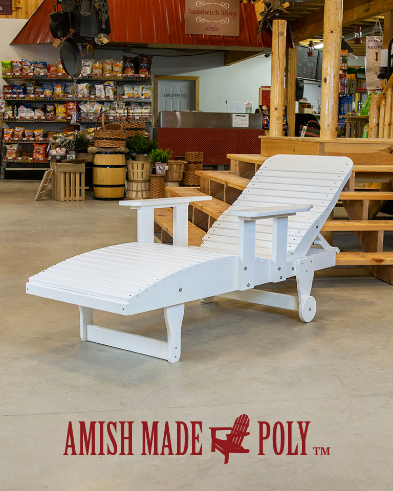 Chaise Lounge with Arms - Amish Made Poly