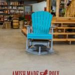 Amish Made Poly - Swivel Glider - Aruba Blue on Light Gray
