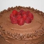 Chocolate Chip Raspberry Layer Cake