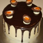 Cadbury's Cream Egg Layer Cake