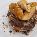 Nutella Filled Pancakes with Caramelised Banana