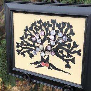 Forever Family Tree vinyl black on butter