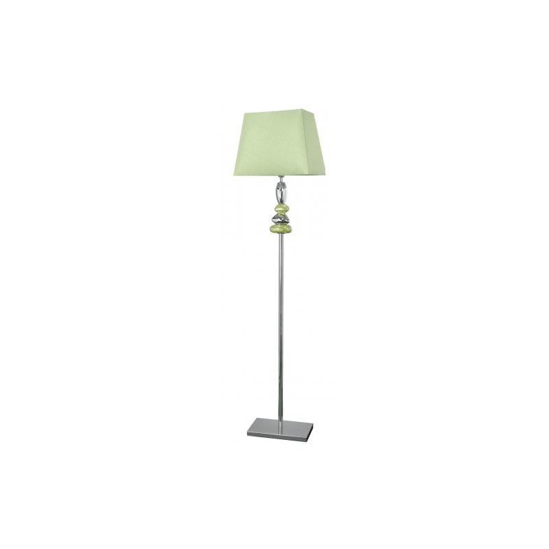Green and Chrome Pebble Floor Lamp