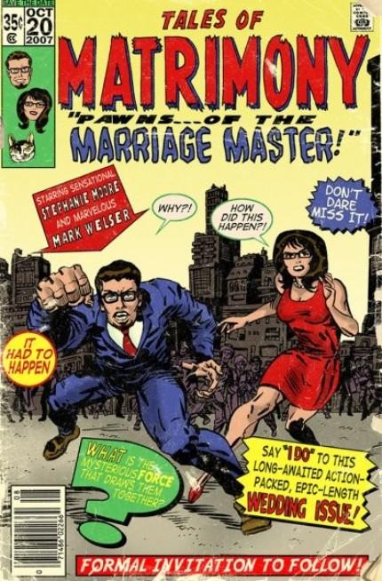 Custom Comic Book Wedding Invites  ForeverGeek