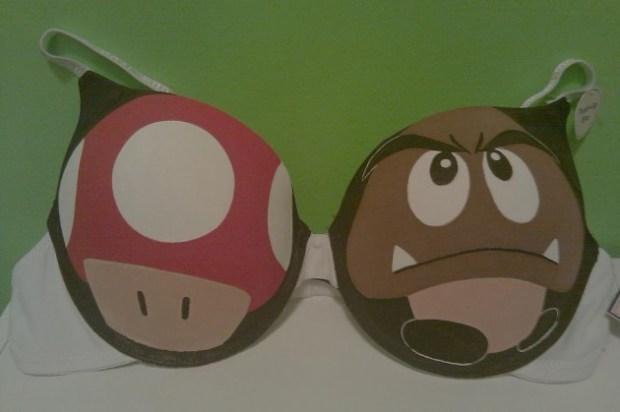 Super Mario Mushroom and Goomba Bra
