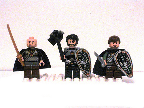 Game of Thrones LEGO Minifigs The Baratheon Brothers