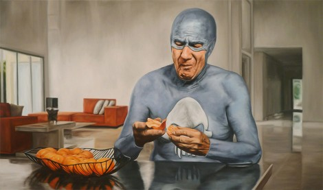 Old Superhero Eating