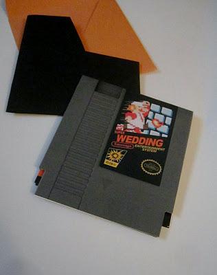 Super Mario Wedding Invitation Envelope