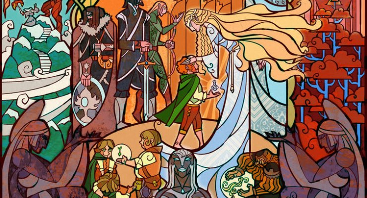 LoTR Stained Glass Style Art