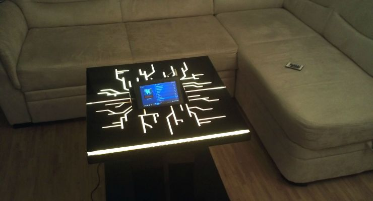 DIY Tron Coffee Table