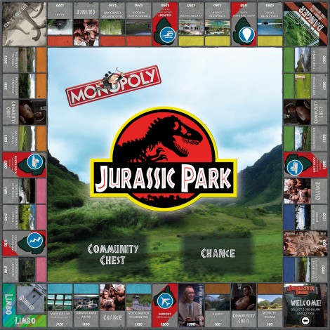 monopoly homemade board games jurassic park