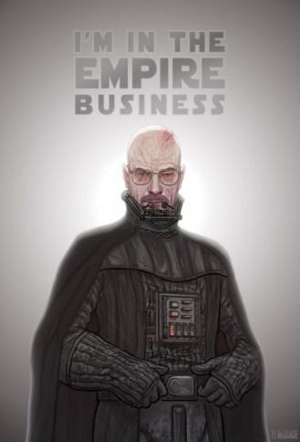 breaking bad mashup star wars darth vader heisenberg