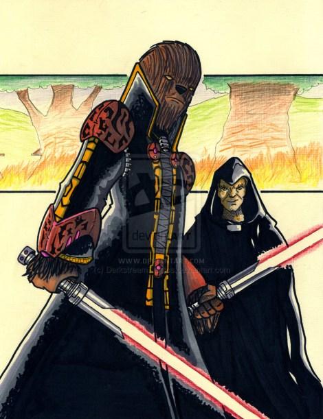 darth chewbacca chewie dark side evil jedi star wars what if