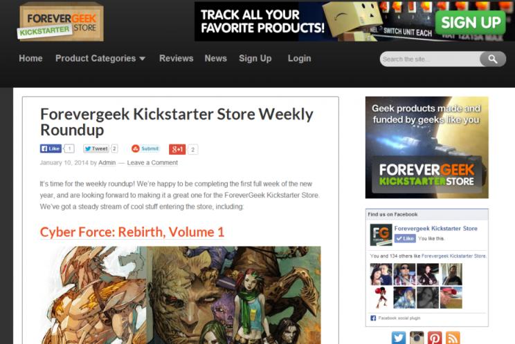 Forevergeek Kickstarter Store Weekly Roundup