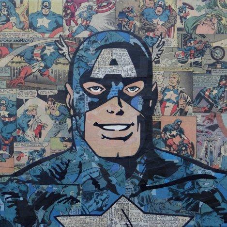 Comic Collage - Captain America