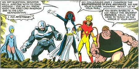Mystique proved as effective a leader of the Brotherhood as Magneto previously was