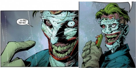 That's not make-up melting off the Joker's face