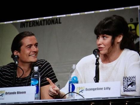 SDCC 2014 - Hobbit Orlando Bloom Evangeline Lily