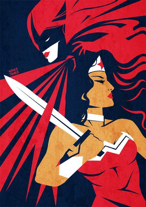 Wonder Woman with Batwoman
