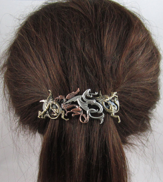 Dragons French Barrette
