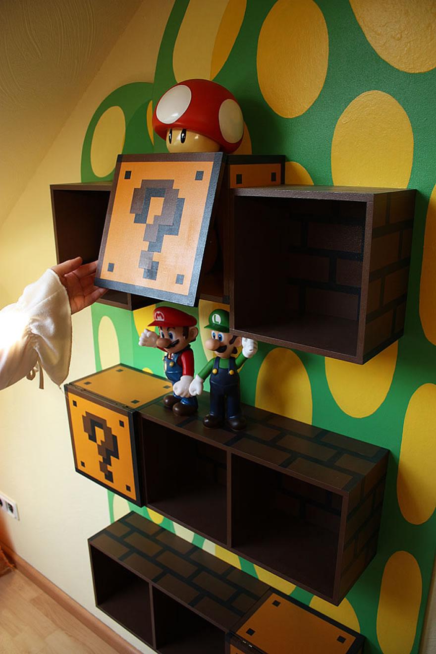 nerdy bookshelf