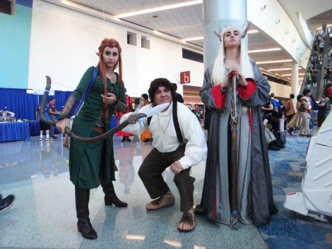 WonderCon Anaheim 2015 The Hobbit - Tauriel, Bilbo, Thranduil