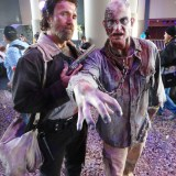 Long Beach Comic Expo 2015 - Walking Dead Rick Grimes and zombie