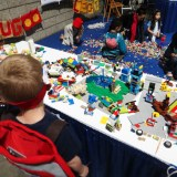 Long Beach Comic Expo 2015 - LEGO bricks for kids to play with