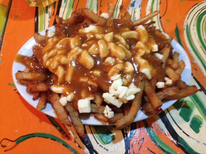 bacon crusted poutine stuffed pie