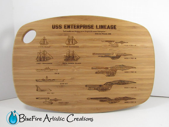geeky cutting boards