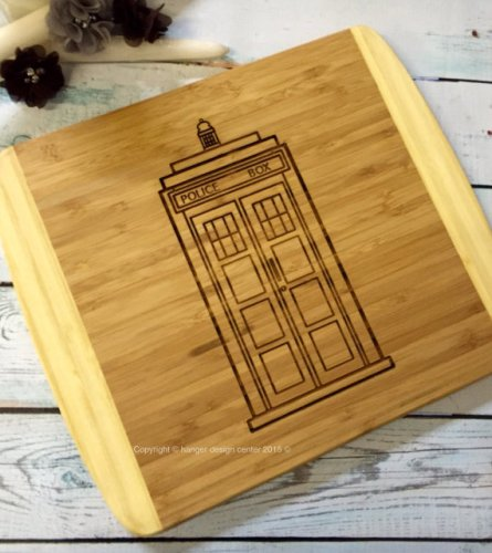 TARDIS Cutting Board